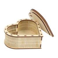 Деревянная заготовка шкатулка сердечко (l-265)