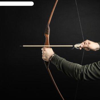 Лук деревянный, подростковый спортивный, коричневый, массив ясеня, 120 см