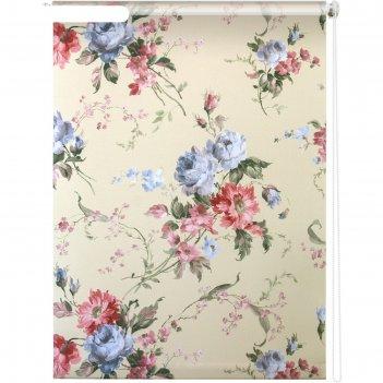 Рулонная штора «розарий», 100х175 см, цвет бежевый
