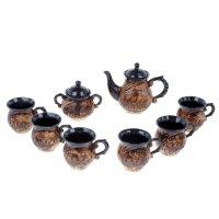 Набор чайный арго лепка, чайник 0,87 л, сахарница 0,5 л, кружки 0,3 л