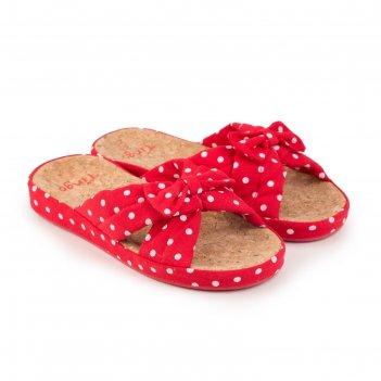 Тапочки женские, цвет красный, размер 36