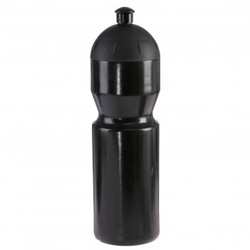 Бутылка для воды 850 мл «купол», велосипедная, с соской, пластик ldpe, чер