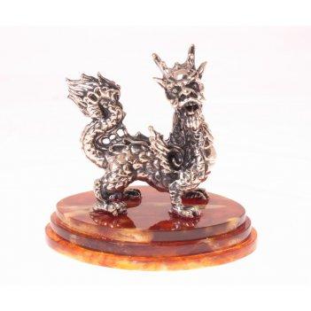 Сувенир мудрый дракон в ювелирной бронзе