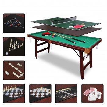 Бильярдный стол fortuna рп, 5фт, 9 в 1, с комплектом аксессуаров