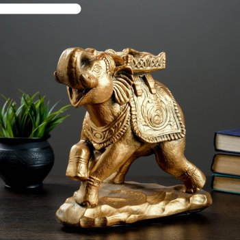 Копилка слон стоя бронза 14х26см