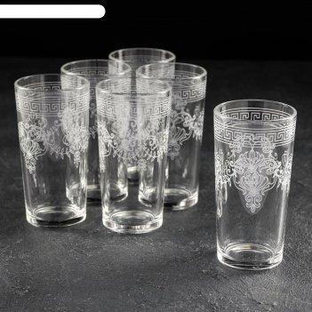 Набор стаканов 230 мл барокко, 6 шт