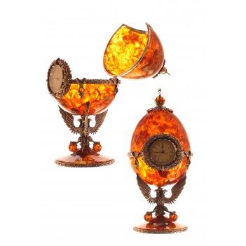 Часы-шкатулка державные из янтаря (бронза)