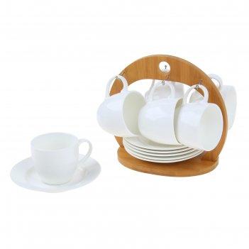 Сервиз чайный эстет, 12 предметов: 6 чашек 220 мл, 6 блюдец