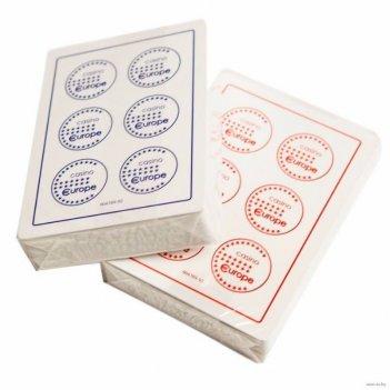 Карты fournier 2818 casino europe,100% пластик, красная рубашка