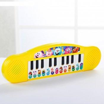 Музыкальная игрушка синтезатор смешарики, 13 клавиш, 7 мелодий sl-00635