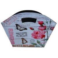 Газетница складная бабочки и розы, l38 w18 h30 см