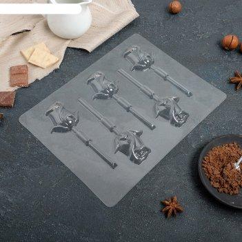 Форма для шоколада «розы», 5 ячеек, 24x18,5x1 см