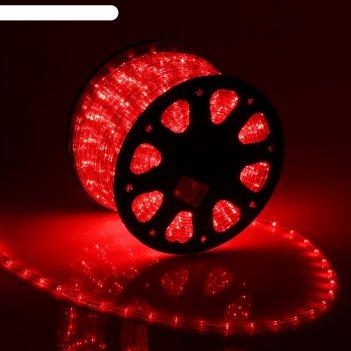 Led шнур 11 мм, круглый, 100 м, фиксинг, 2w-led/м-24-220v, в компл. набор