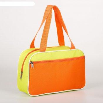 7922 п-600 сумка для обуви , 33*10*20, отд на молнии, н/карман, салатов/ор