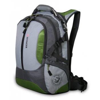 15914415 рюкзак wenger «large volume daypack» цв. зелёный серый
