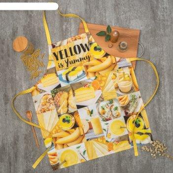Фартук этель yellow 60х70 см см, 100% хл, саржа 190 гр/м2