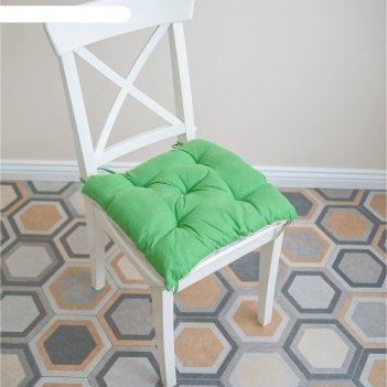 Подушка на стул, размер 45 x 45 см, цвет травяной