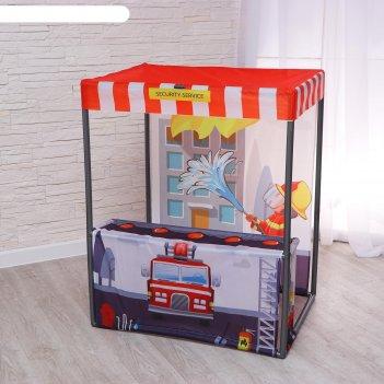 Детский игровой тент пожарная станция 60х80х99 см