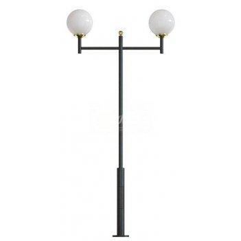 Стальной фонарный столб т-30-2 со светильниками