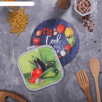 Многофункциональная кухонная доска + прихваткаcook with love, 20 см