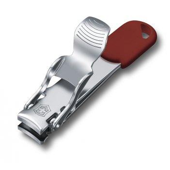 Книпсер victorinox с отверстием для шнурка, сталь, красный, в блистере