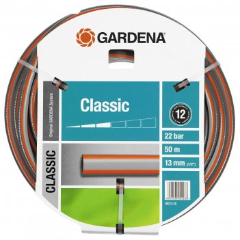 Шланг, пвх, d = 12 мм (1/2), l = 50 м, 3-слойный, армированный, gardena cl