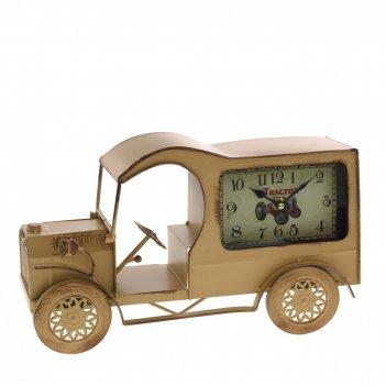 Часы настольные декоративные автомобиль , l35,5 w10 h22 см, (1хаа не прила