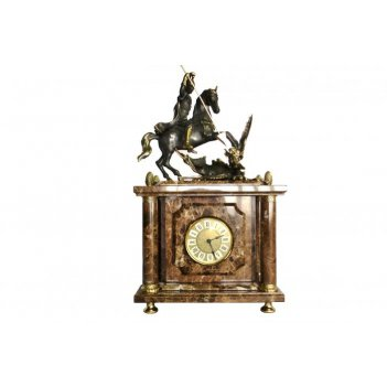 Часы из итальянского мрамора георгий-победоносец