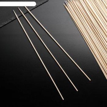 Шампур деревянный magistro, береза, 30x0,3 см, по 100 шт