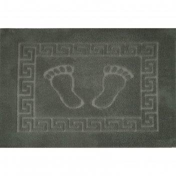 Коврик для ванной foot, 50 х 70 см, полипропилен, серый