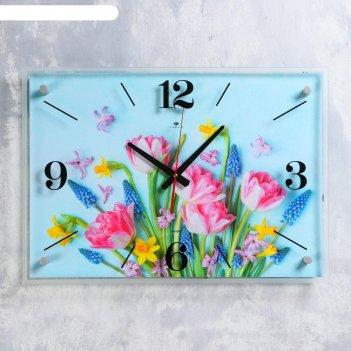 Часы настенные букет 40х56 см, плавный ход