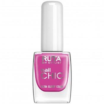 Лак для ногтей ruta nail chic, тон 86, тёмная сирень
