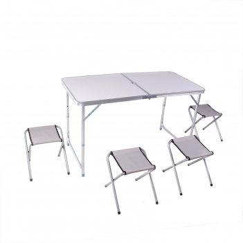 Набор мебели туристический, складной (стол 120х60х70 см, 4 стула)