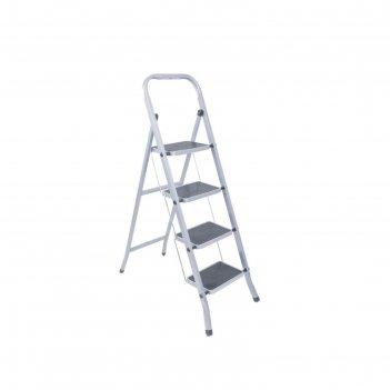 Стремянка ремоколор 63-0-164, стальная, с широкими ступенями, 4 ступени