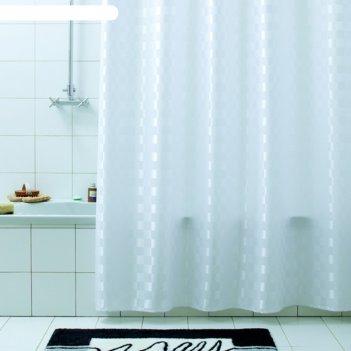 Штора для ванной quadretto, 240х200 см, белый.
