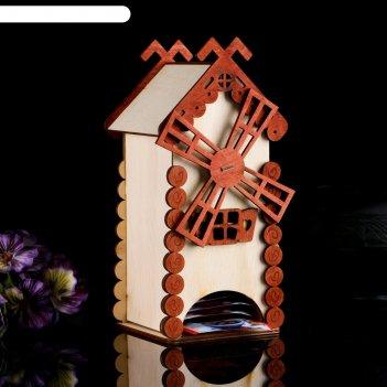 Чайный домик старая мельница, 10x10x21,5 см