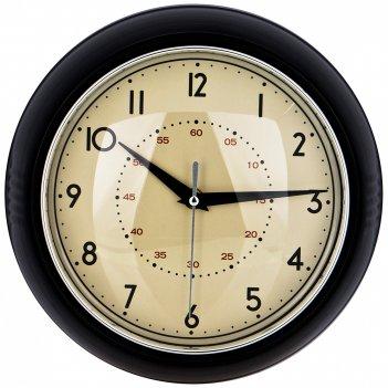 Часы настенные кварцевые lovely home диаметр 23 см цвет:черный (кор=6шт.)