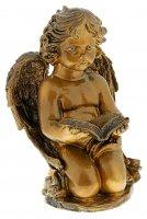 Статуэтка ангел с книгой большая, бронза