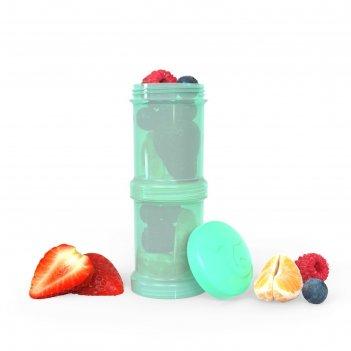 Контейнер для сухой смеси twistshake, цвет пастельный зелёный, 100 мл, 2 ш