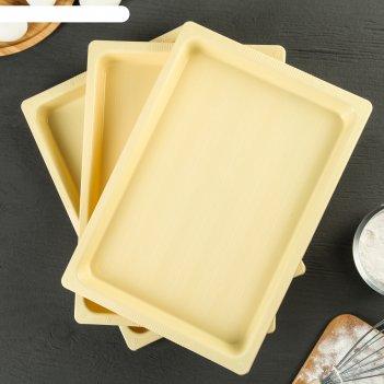 Набор подносов 25x35,5x5,5 см для заморозки пельменей, 3 шт, цвет микс