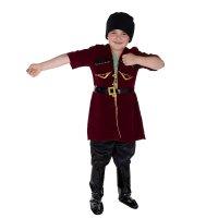 Карнавальный костюм джигит, 5 предметов: шапка, кафтан, штаны, ремень, сап