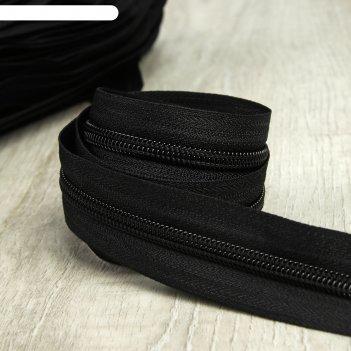 Молния рулонная, спираль, №5, 200м, цвет чёрный