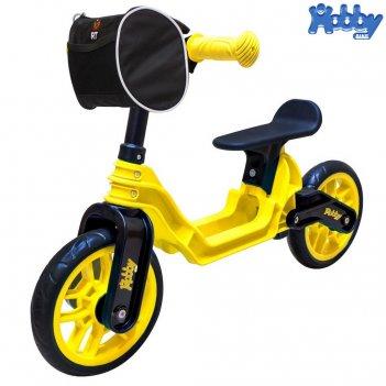 Ор503 беговел hobby bike magestic yellow black