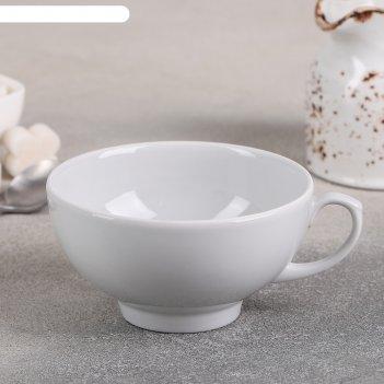Чашка чайная 220 мл рубин, цвет белый