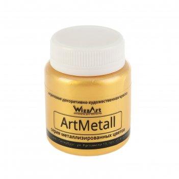 Краска акриловая metallic 80 мл wizzart золото 583 металлик wm1.80