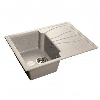 Мойка кухонная из камня granfest s680l, 680х500 мм, цвет серый