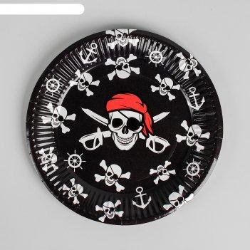 Тарелка бумажная пират, 18 см