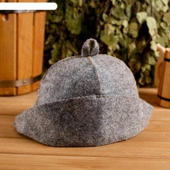 Колпак для бани  шапка банщик серая