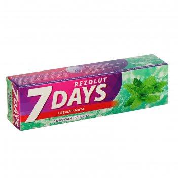 Зубная паста 7 days от кариеса свежая мята, 100 мл