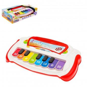 Пианино для малышей музыкальная шкатулка, звуковые эффекты, 13 клавиш